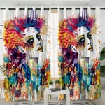 Abstract Art Lady Curtains