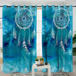 Blue Dream Catcher Curtains