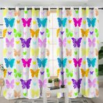 Colorful Butterflies Themed Curtains