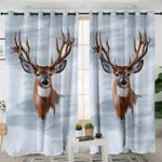 Antlers Smoky Grey Curtains