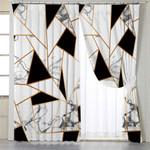 Marble Motif Tiles Curtains