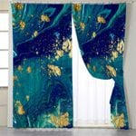 Gold In Abstract Flow Curtains