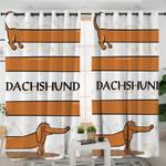 Funny Dachshund Curtains