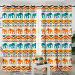 Textiled Elephant Stihouettes Curtains