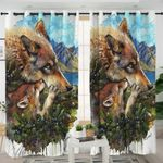 Berry Wolves Curtains