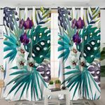 3D Orchid White Curtains