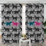 Cat Pattern Curtains