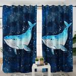 Galaxy Blue Whale Curtains