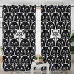 Standout B&W Cats Curtains