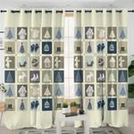 Vintage Christmas Themed Curtains