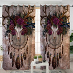 Antlers Head Trophy Dream Catcher Curtains