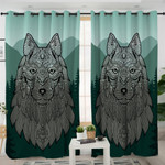 Maori Wolf Forest Themed Curtains