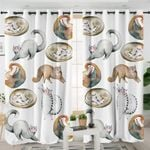 Cute Cats Curtains