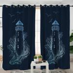 Lighthouse Themed Curtains