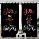 You Are My Heart My Love Black Curtains