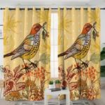 Fall Bird Themed Curtains