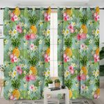 Tropical Palm Flower Pineapple Curtains