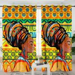 Colored African Lady Curtains