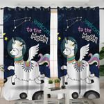 Magical Sheep Cosmic Themed Curtains