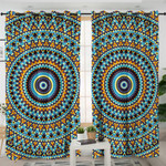 Concentric Mandala Style Curtains