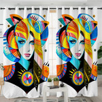Pixie Cat Lady Curtains