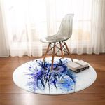 Watercolored Owl Round Rug