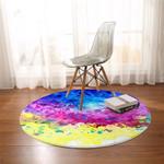 Colorsprayed Round Rug