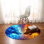 Fire And Ice Round Rug
