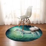 3D Unicorn Forest Round Rug