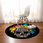 Mix Color Skull Round Rug