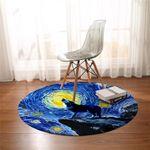 Wolfhowl Starry Round Rug