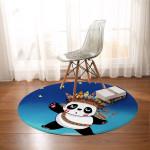 Tribal Panda Round Rug