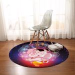 Cartoon Elephant Round Rug