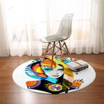 Picasso Lady Round Rug
