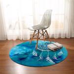 Dream Catcher Turquoise Round Rug