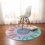 Feathery Mandala Dreamy Round Rug