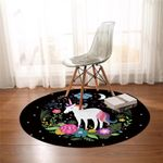 Magical Unicorn Starry Round Rug