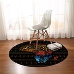Stylized Africa Continent Round Rug
