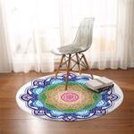 Spiritual Mandala Wheel Round Rug