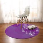 Bahaman Sea Purple Dreamcatcher Round Rug