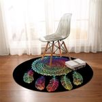 Faded Color Dream Catcher Round Rug