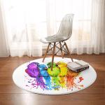 Rainbow Conure Round Rug