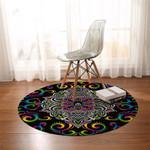 Intricate Mandala Wheel Round Rug