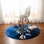 Snowy Dream Catcher Space Round Rug