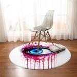 3D Pink Drip Eye Round Rug