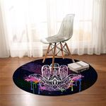 Holy Hand Color Drip Round Rug