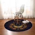 Feral Count Round Rug