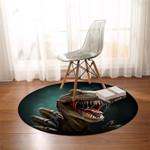 3D T-Rex Round Rug