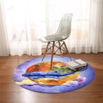 Blue Whale Planetary Round Rug
