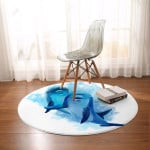 Dolphins Of The Sea Round Rug